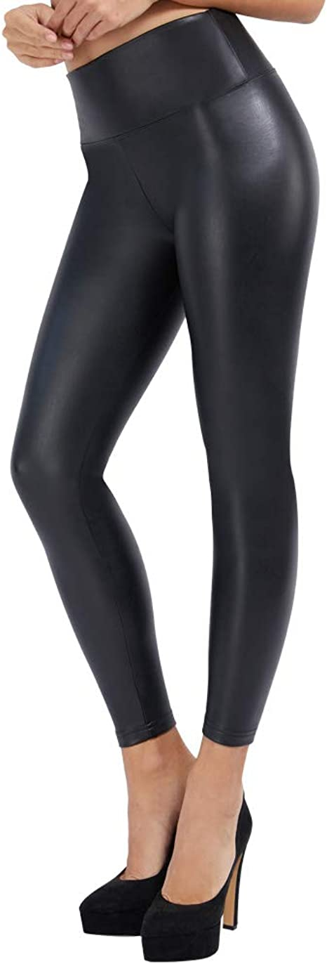 Neuf Legging Long Simili Cuir Treggings Comme Simili-Cuir Mat Haute Couleur