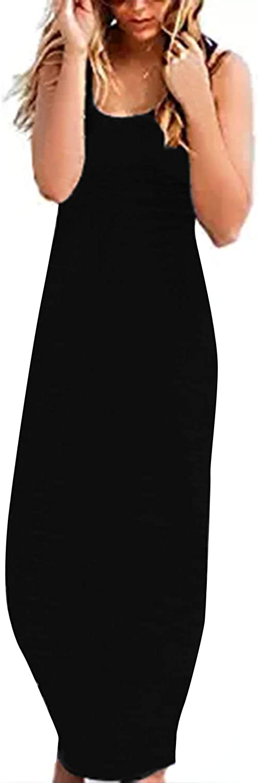 con dise/ño de rayas ZANZEA Vestido largo de tirantes para mujer de algod/ón