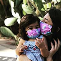 Unicorn Face Mask for kids and toddlers with filter pocket made of Washable Reusable 100% Cotton Fabric Made in USA Free Shipping