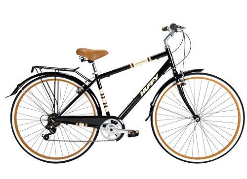 Huffy Bicycle Company Men's Number 26765 Modern Cruiser Sportsman Bike, 700cm, Gloss Black