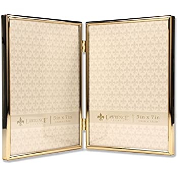 7eff488bfd9 Amazon.com - PuTwo Picture Frames 5x7 Gold Hinged Double Folding ...