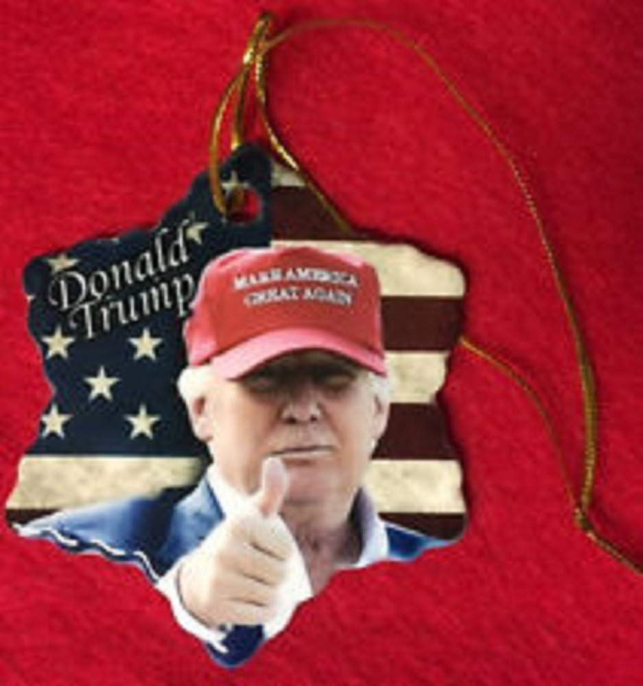 Donald Trump Make America Great Again Porcelain Christmas Ornament New