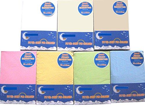 HAHN Jersey-Spannbettlaken für Kinderbett, 70x140 cm, hellblau