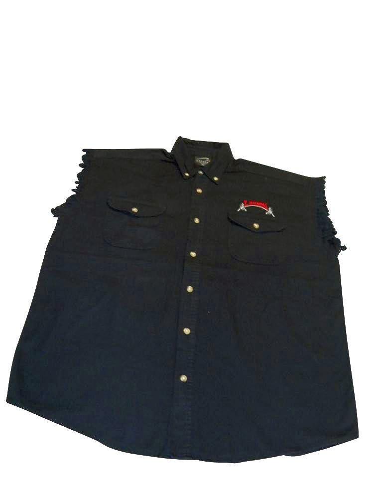 Micheal Sleeveless Denim//Twill Shirt #209SL T