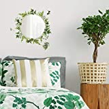 RoomMates Fern Peel and Stick Decals with Circle Mirror