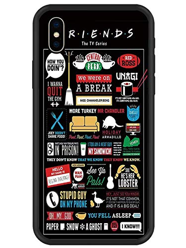 JOYLAND Rubber Phone Case/Friends Design/Funny Sitcom TV Parody Collection Protective Case Gel Cover for iPhone XR