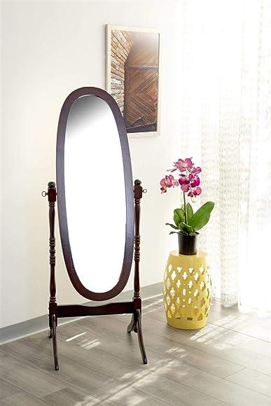 Dabny Cheval Oval Mirror Merlot