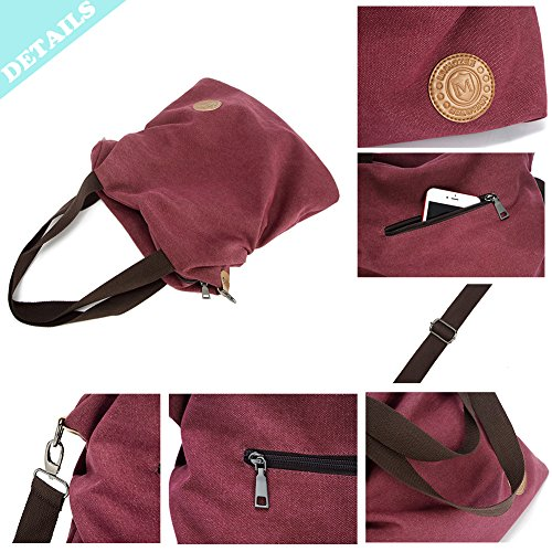 Handbag Tote Myhozee Canvas Bag Women Body Coffee Bag Purse 1 Casual Cross Shoulder Satchel RFzqI