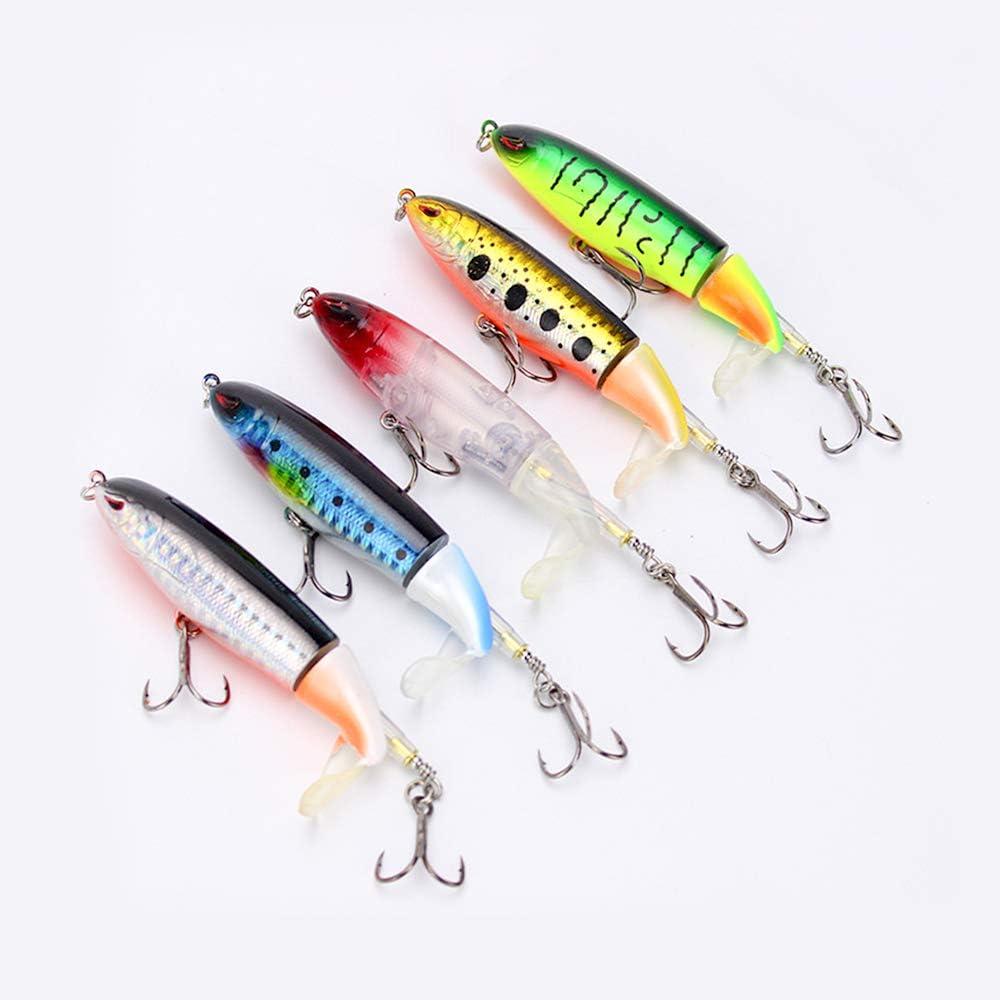 Uquelic 5Pcs Lápiz Popper Señuelo Pesca Artificial Duro 10 cm 15 g ...