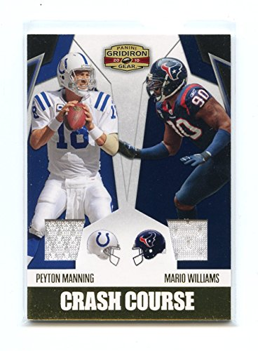 (2010 Panini Gridiron Gear Crash Course Jerseys #3 Peyton Manning Mario Williams)