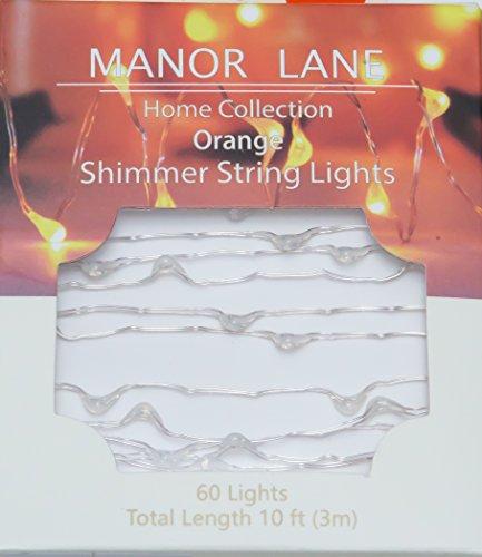 Manor Lane Home Collection Orange LED Shimmer String Lights (10ft, Built-in Timer) ()