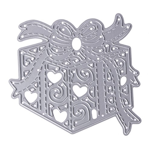 Whitelotous Metal Cutting Dies Stencil Template Mould for DIY Scrapbook Album Paper Card (Gift (Craft Box Templates)