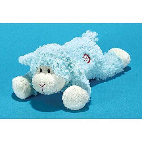 Baby Boy Blue Lamb Soft Plush Figurine Doll Sings Tune Jesus Loves Me by Dicksons