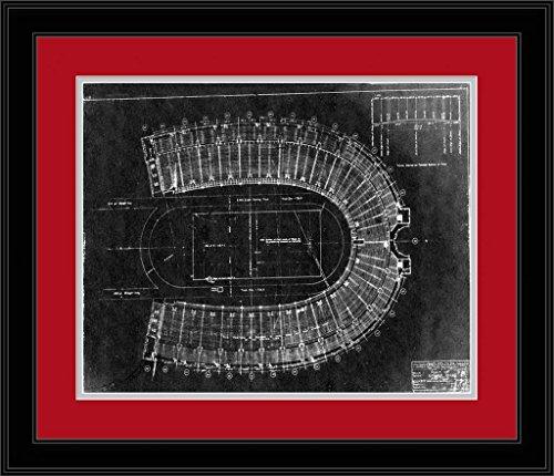 Ohio State Buckeyes - Ohio Stadium Plans Blueprint- Framed Photo
