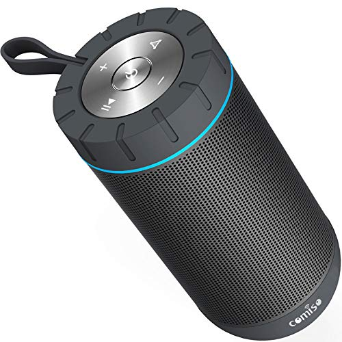 COMISO Waterproof Outdoor Wireless with Hours Playtime Superior Camping, Beach, Sports, Pool Shower