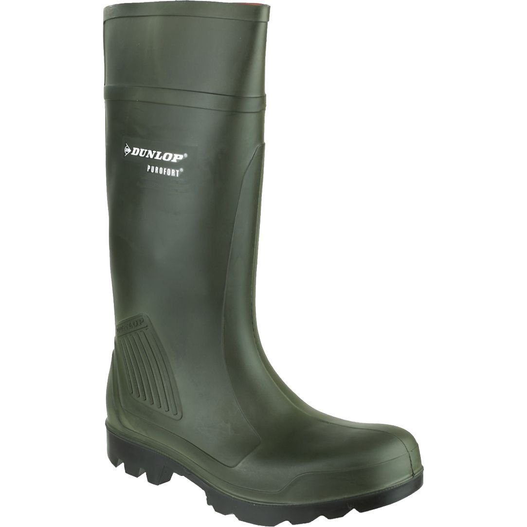 Dunlop Adults Unisex Purofort Professional Wellies (14 US) (Green)