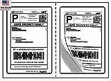 usps labels ebay - BESTeck Perforated Shipping Labels Round Corner 2 Labels Per Sheet Laser/InkJet Printer for USPS Click-n-Ship UPS eBay FedEx Amazon (100 Sheets)