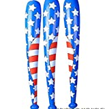 4th of July USA Flag Inflatable Baseball Bat 42 inch (1 Dzn)
