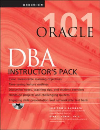 Instructor's Manual: Im Oracle DBA 101 Instructors Pack (Oracle Press Series) PDF