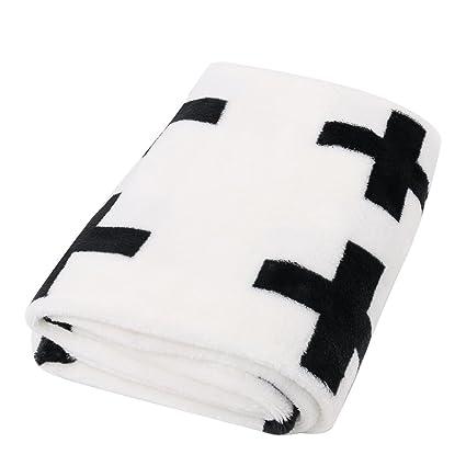 Churun bebé manta polar suave 35.4 x 47.2 inch Negro y ...