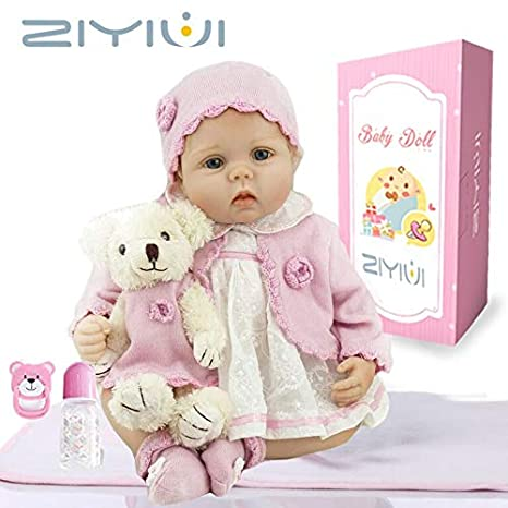 189054b8ae4fb Amazon.es  ZIYIUI Reborn Muñecas de bebé de 22 Pulgadas 55cm Vinilo de  Silicona Suave Realista Recién Nacido para niños Mayores de 3 años Juguete   Juguetes ...