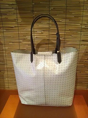 Francesco Lionetti - bolso de mano de cuero - Made in Italy (gris coco) tienda de color beige