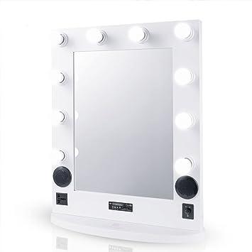 Luvodi Miroir Maquillage Lumineux Avec Bluetooth Usb Grand Miroir De
