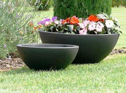 Vasi Per Giardino In Plastica.Ciotola Cefeo O Cm 60x24h In Resina Plastica Diversi Colori Vaso Giardino Interni Piante Made In Italy