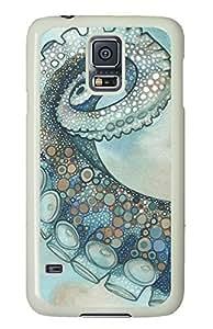 White Fashion Case for Samsung Galaxy S5,PC Case Cover for Samsung Galaxy S5 with Octopus Tentacle Arm
