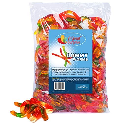 Gummy Worms - Gummy Candy - Gummy Worms Bulk - Bulk Candy - 5 Pounds]()