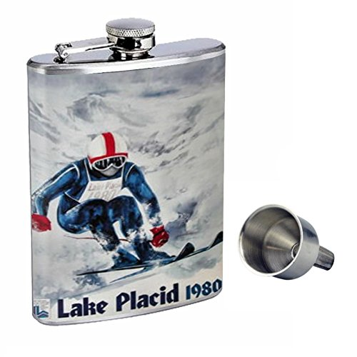 格安人気 1980 Lake Placid OlympicsスキーPerfection B015QLLXSK inスタイル8オンスステンレススチールWhiskey Funnel Flask Flask with Free Funnel d-282 B015QLLXSK, 家電と住設のイークローバー:a4d9a406 --- domaska.lt