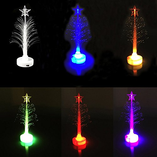 7 Color Christmas Xmas Tree Fiber Optic Led Night Light in US - 7