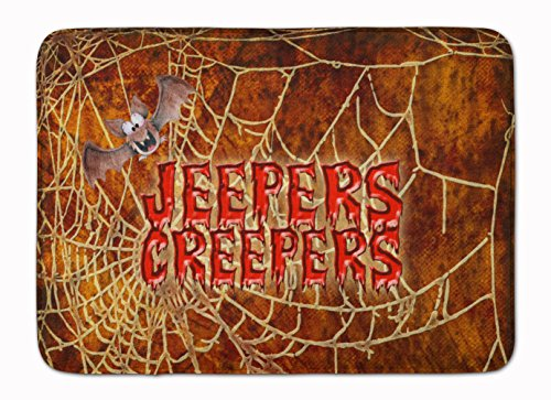 Caroline's Treasures Jeepers Creepers with Bat Halloween Floor Mat 19