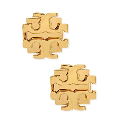 d442b15de Image Unavailable. Image not available for. Color: Tory Burch Small T Logo  Stud Earrings Gold