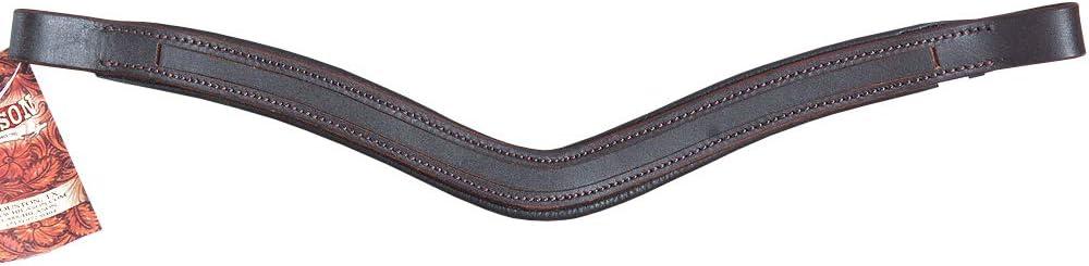HILASON Draft U Shape English Padded Bridle Browband Blanks Empty Channel