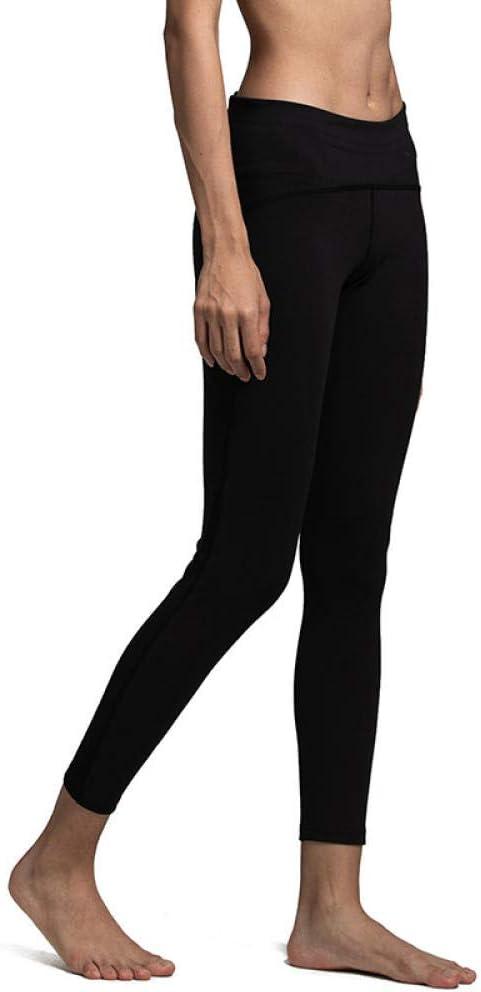 B/H Leggings No Transparenta Cintura Alta,Pantalones de Yoga Transpirables y elásticos, Pantalones Deportivos Ajustados de Cadera Color melocotón, personalización transfronteriza-Black_S