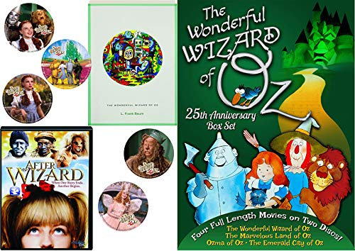 Animated Story Book L. Frank Baum Stories Wonderful Wizard of Oz / Emerald City / Land of / Ozma Cartoons 4 features + Bonus Dorothy Toto Tin Man Cowardly Lion Stickers kids Read & Watch After the Wiz]()