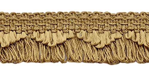 DÉCOPRO Decorative Camel Gold, Dark Gold Scalloped Loop Fringe/Braid, 1 3/8 Inch, 12 Yard Value Pack, Style# 9115 Color: E16 (D1) (36 Ft / ()