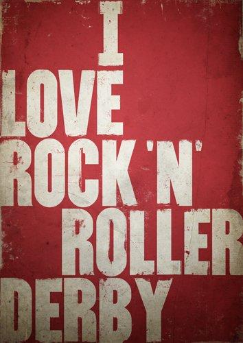 Roller Derby Póster, rockabilly cartel, cartel de patines ...