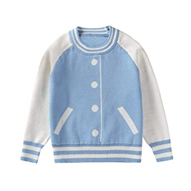 776a8c0d2 Amazon.com  Trendy Kids Baby Boy Girl Warm Knitted Striped Sweater T ...