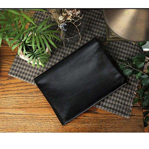 Genuine Leather Envelope Clutch Bag Business Portfolio Briefcase for Men Black by Sturdybags (Image #6)