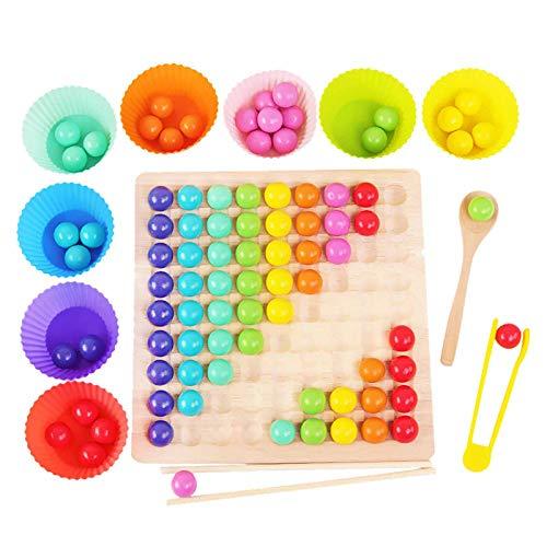 Houten Go Games Set Dots Kralen Board Games Speelgoed Rainbow Clip Kralen Puzzel, Houten Peg Board Kralen Game Rainbow…