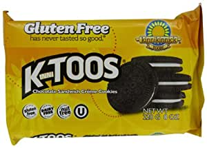 KinniToos Gluten Free Cookies, Chocolate Sandwich Creme, 8 Ounce (Pack of 6)