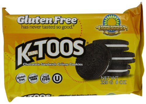 KinniToos Gluten Free Cookies, Chocolate Sandwich Creme, 8 Ounce (Pack of 6) ()