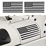 #7: Hooke Road American Flag Sticker Body Decals Decoration for YJ TJ JK Jeep Wrangler & Unlimited(Pair)