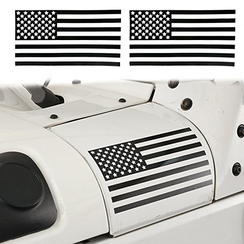 Body Decal - opar American Flag Sticker Body Decals Decoration for YJ TJ JK Jeep Wrangler & Unlimited(Pair)