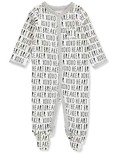 Carter's Baby Boys' 1-Piece Footed Pajamas - White/Black, 9 - Footed Pajamas Jersey Knit