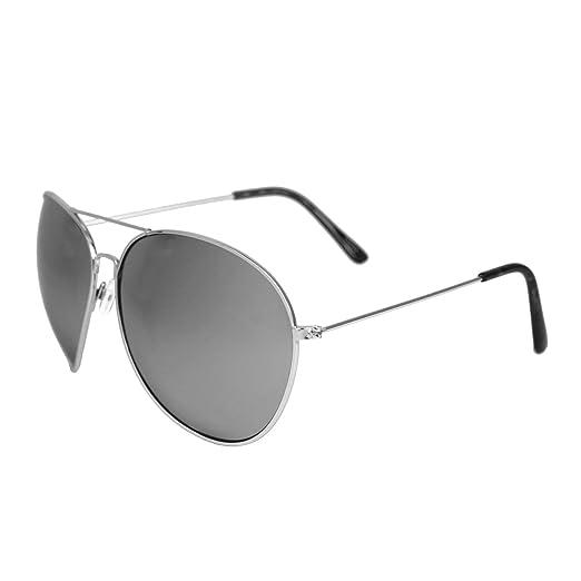 02ef5574c7 Men s Oversize XXL Mirrored Aviator Rockstar Glasses (XL (6.5 in x 2.5 ...