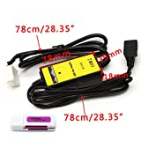 Autoparts Car MP3 Audio Interface SD AUX USB Data Cable Adapter CD Changer For Honda Acura