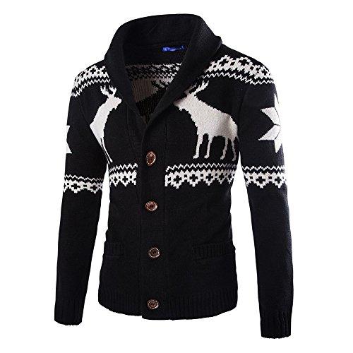 Men's Hoodies, FORUU Winter Christmas Sweater Cardigan Xmas Knitwear Coat Jacket Sweatshirt